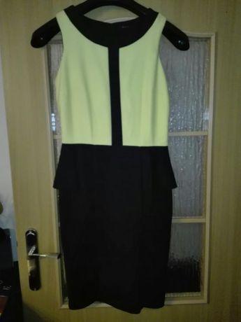 Limonkowa sukienka Mohito 38