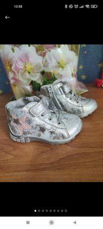 Ботинки ботінки  bi&ki  для дівчинки напів черевечки полусапожки