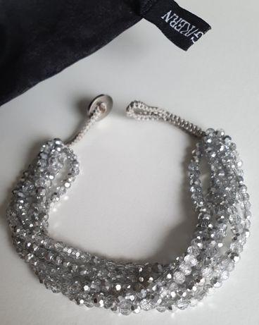 Dyrberg Kern branosletka kryształy kryształowa szara nowa