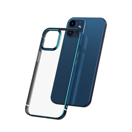 Capa Baseus Shining Flexible Gel A Shiny Metallic Frame Iphone 12 Mini Navy Azul (Arapiph54n-Md03)