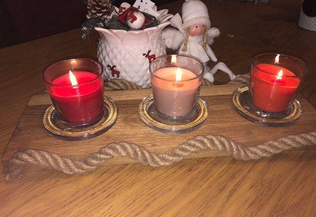 Świecznik drewniany Hand Made