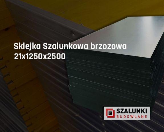 Sklejka brzozowa szalunkowa 21x1250x2500, szalunki budowlane, sklejki