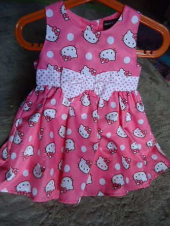 sukienka na roczek przyjecie hello kitty 86