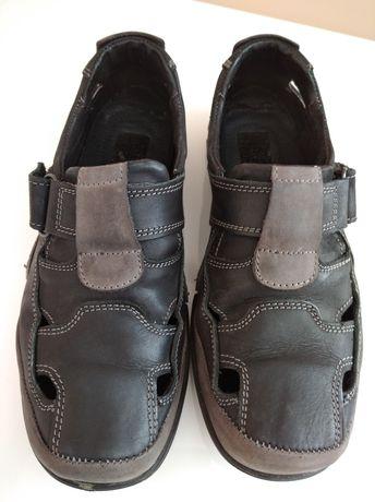 Buty skórzane męskie na rzepy rozmiar 40