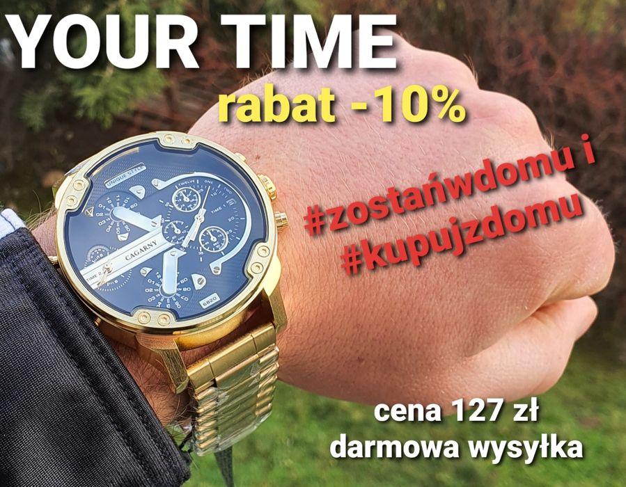 Męski zegarek na bransolecie w kolorze złotym rabat Nowy Dwór Mazowiecki - image 1