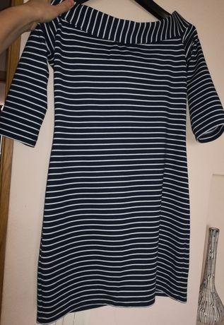 Плаття трикотажне в полосочку