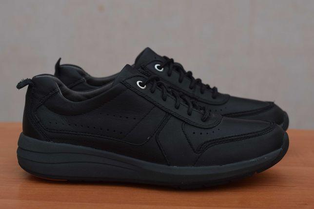 Черные кожаные мужские кроссовки Clarks. 43 размер. Оригинал