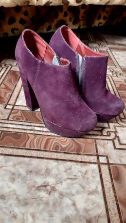 Ботинки замшквые