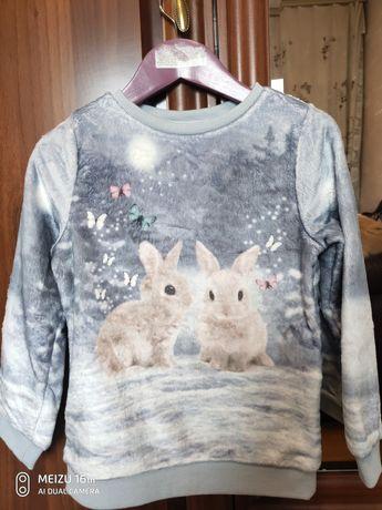 Теплый свитер кофта h&m 110-116р.