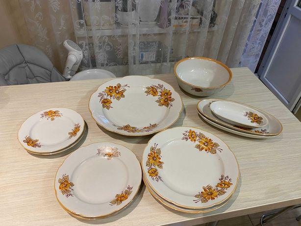 Фарфоровые тарелки Барановский сервиз посуда