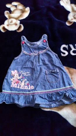 Sukienka dla dziewczynki dżinsowa rozmar 68 3-6msc