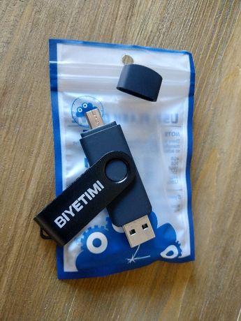 Универсальная флешка 32gb (подкл. к компьютеру и телефону)