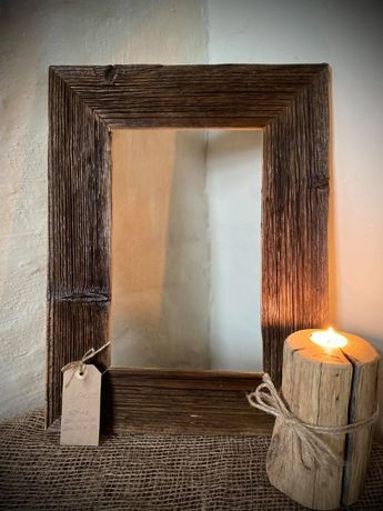 Ramka na zdjęcia ze starego drewna Ramki Frame Hand made 36,5x48 cm