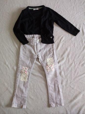 Spodnie sweterek dla dziewczynki 110-116