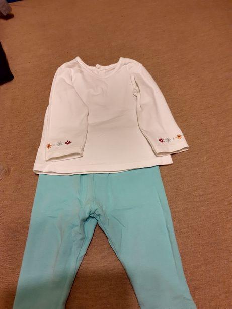 Komplet legginsy i bluzka, rozmiar 3-6 M