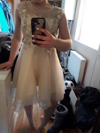 Выпускное нарядное платье шампань с фатина 2021 бесплатная доставка УП