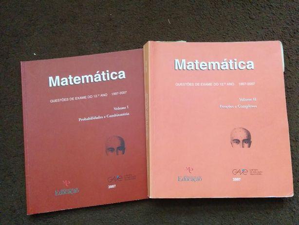 Matemática - Questões de Exame do 12º Ano - GAVE