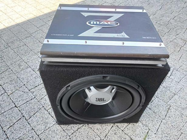 Subwoofer JBL 1100W+Wzmacniacz Mac Audio 1000w