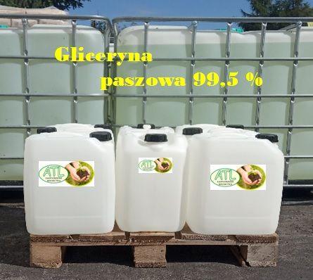 Gliceryna paszowa 99,5 % (czysta, krystaliczna)