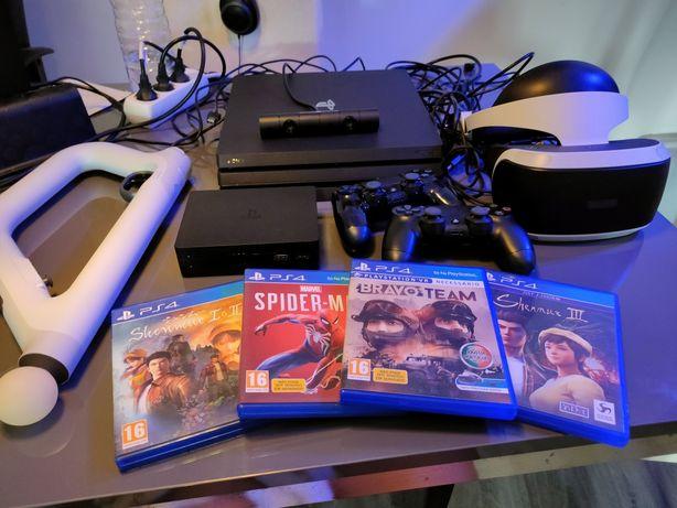 PlayStation 4 Pro 1Tb + Oculos VR + 2 comandos + pistola + 5 jogos