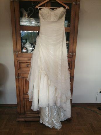 Suknia ślubna rozmiar S ecru tylko ona ślubne pl