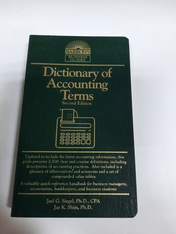 Dictionary of AccountingTerms second edition