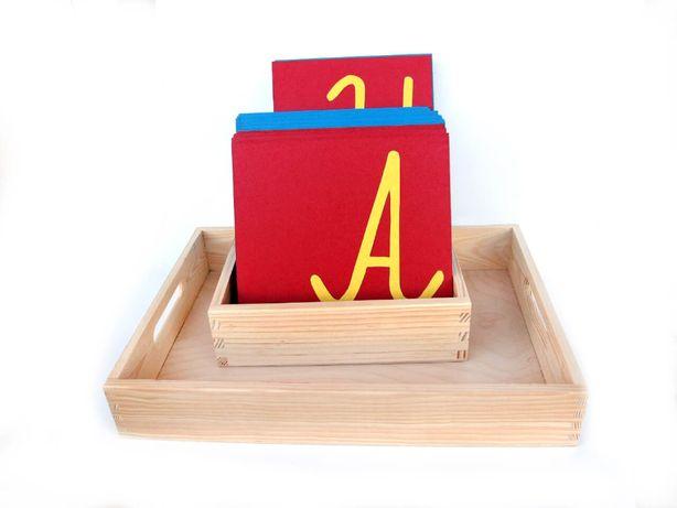Szorstki alfabet wielki, szorstkie litery Montessori wielkie