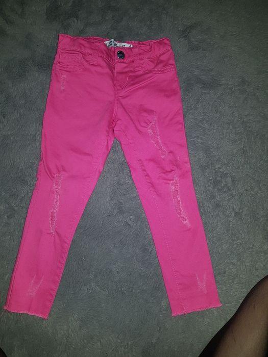 spodnie jeansy różowe rurki 2-3latka Białystok - image 1