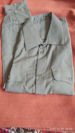 Рубашка военная защитного цвета