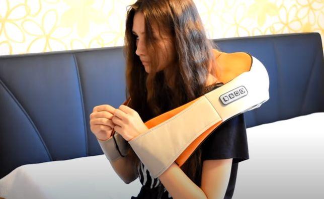 Массажер для шеи, плеч и спины с ИК-прогревом мassager of neck kneadin