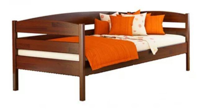 Деревянная кровать из букового щита, 80×190