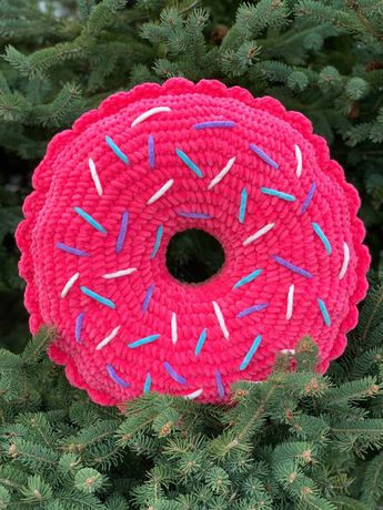 Подушка Пончик Плюшевая