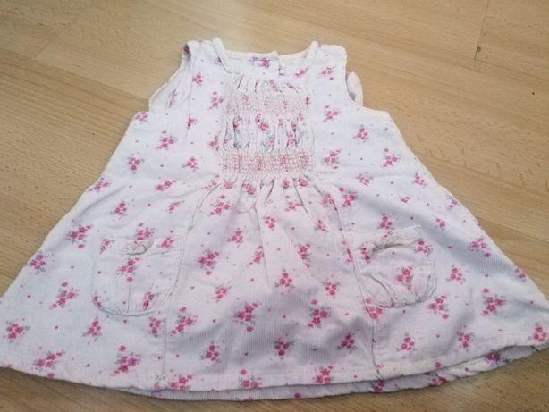 Sukienka sztruksowa rozmiar 62 zestaw 19