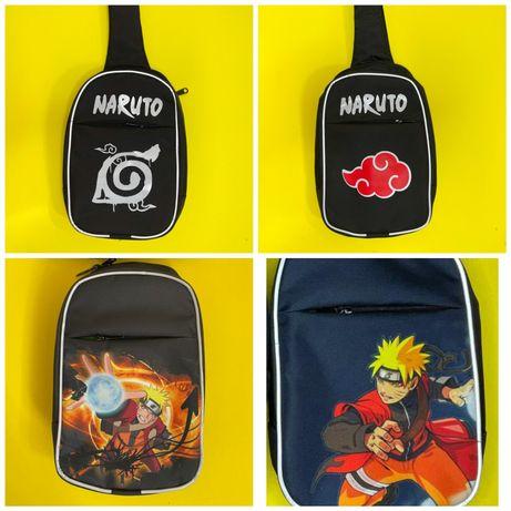 Наруто/Naruto сумка через плечо, рюкзачок для прогулки, доп.занятий