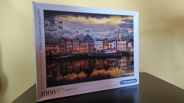 Puzzle 1000 Clementoni   Dutch Dreamworld   brak jednego elementu