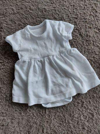 Sukienka body do chrztu dziewczynka 68