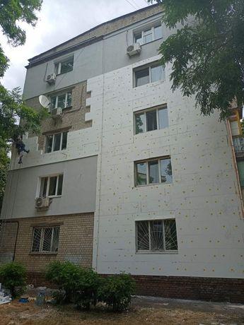 Утепление стен фасадов квартир домов пенопластом