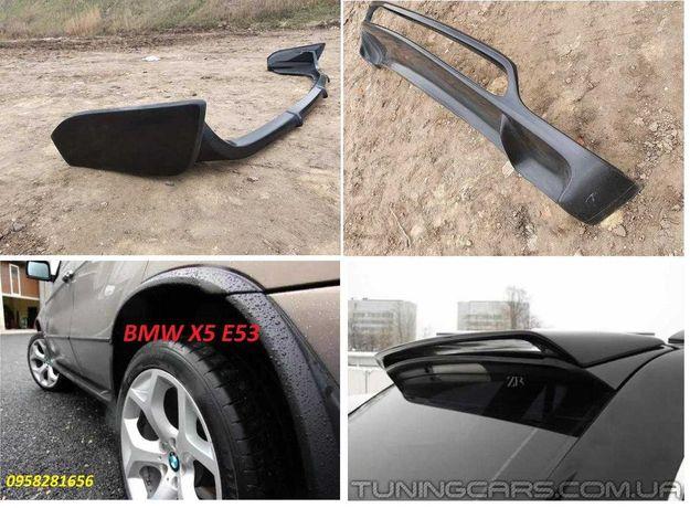 BMW X5 E53 Накладка передний задний бампер БМВ Е53 Х5 юбка обвес арки
