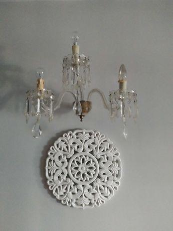 Candeeiro de parede ou aplique de parede de cristal