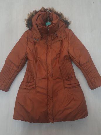 Ciepła,ruda kurtka r.42