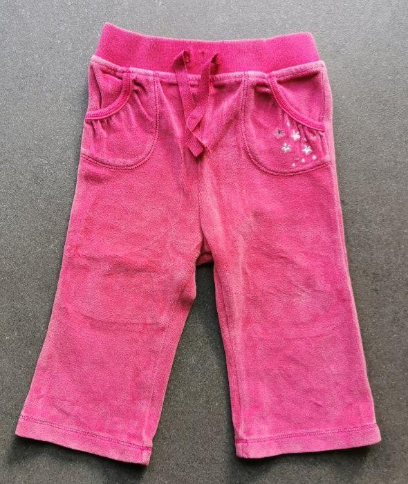 Spodnie dresowe, różowe, M&S, rozmiar 80 Gdańsk - image 1