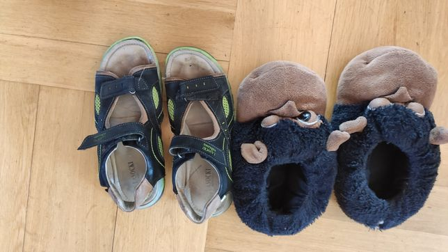 Sandały lasocki r. 34 i kapcie