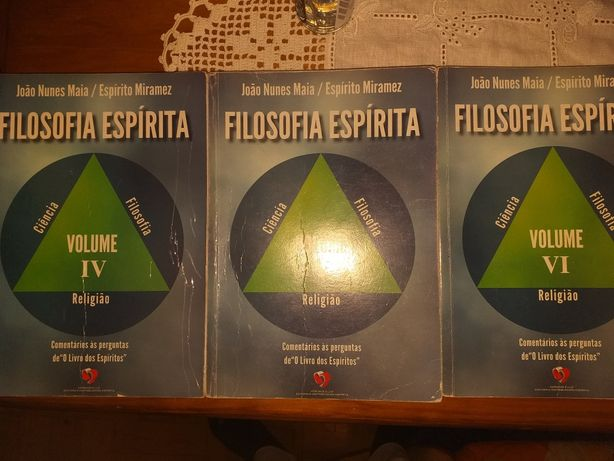 "Livros ""Filosofia Espirita"" volumes IV, V e VI"