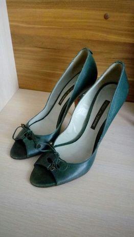 Женские туфли PIED A TERRE (Испания), кожа, тёмно-зеленые р. 39