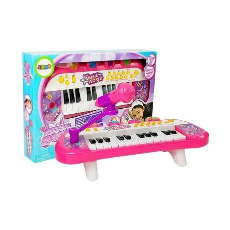 KEYBOARD PIANINKO MIKROFON dla dziewczynki organki zabawki muzyczne