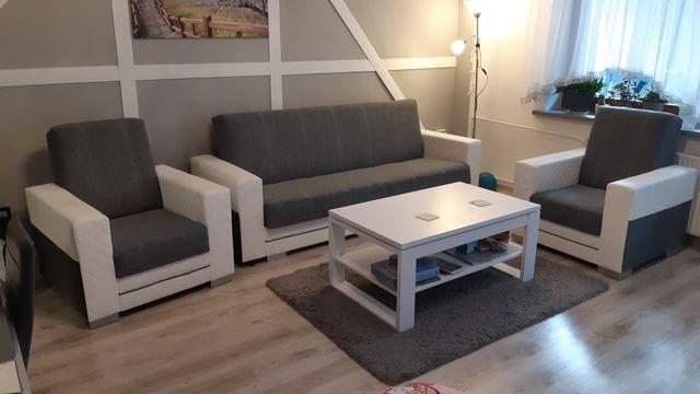 Komplet wypoczynkowy sofa i dwa fotele