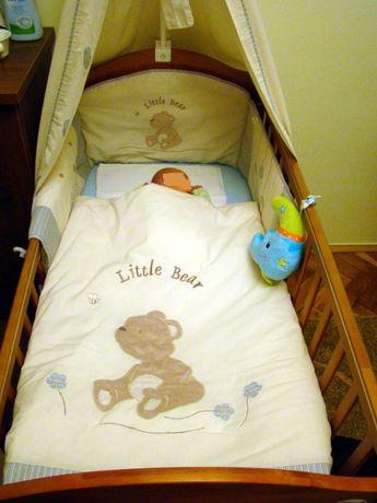 Pościel do łóżeczka dziecięcego Miś Kolorino. 4 elementowa.