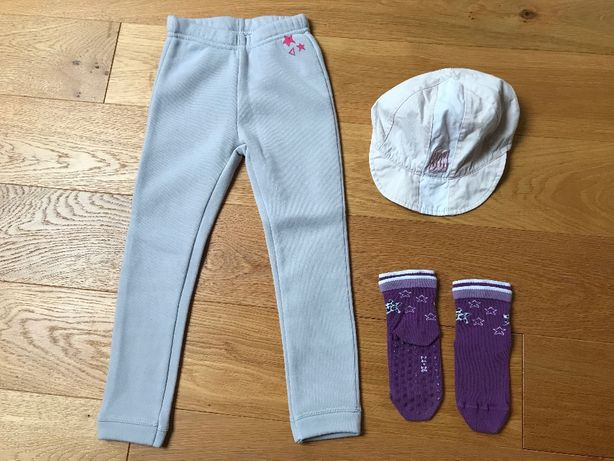 ubranka / spodnie rozmiar 104 , czapka z daszkiem