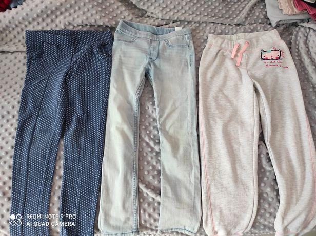Leginsy spodnie stan b.dobry 122