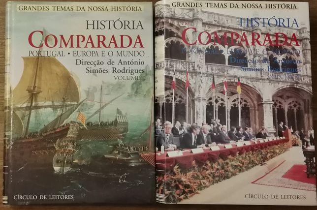 história comparada, simões rodrigues, círculo leitores, 2 volumes